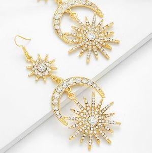Jewelry - Moon Star Crystal Earrings